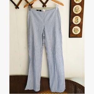 Vintage Pinstripe Seersucker High Rise Pants